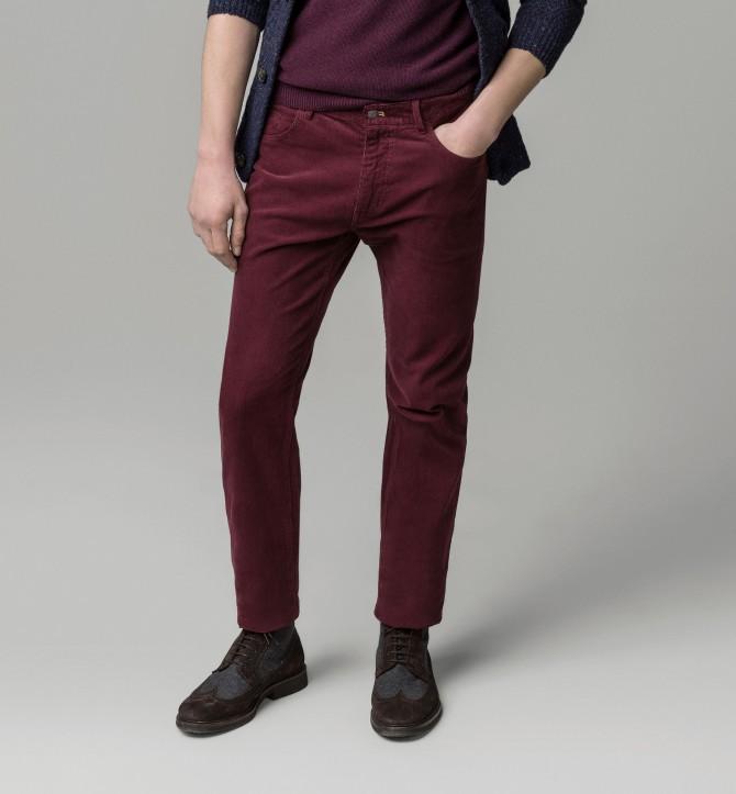 5 pantalón tejano pana massimo dutti
