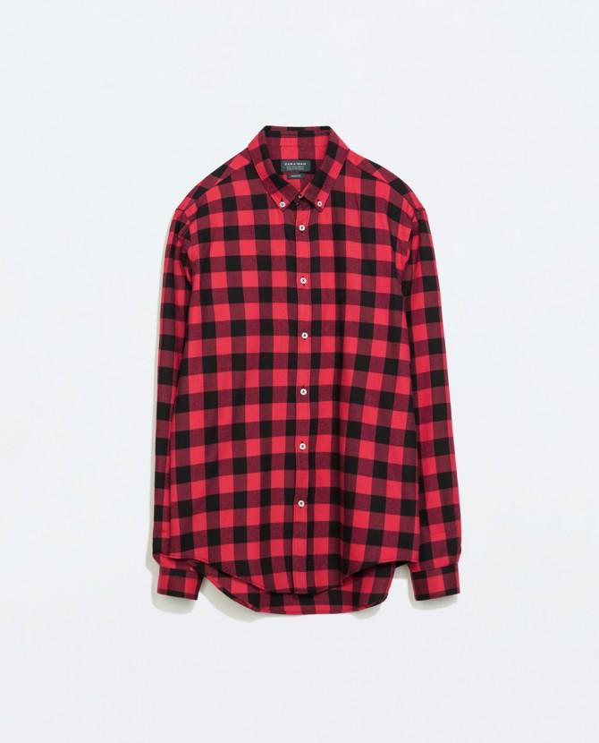 3 camisa leñador zara